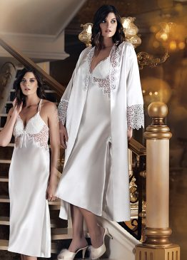 7090-1 - 2 Pieces Satin Nightgown Set