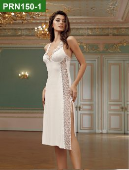 PRN150-1 - 2 Pieces Satin Nightgown Set