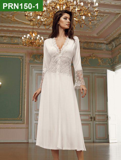 PRN150-1 - 2 Pieces Satin Nightgown Set